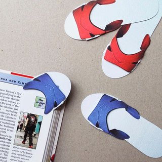 Taiwanese slippers bookmark-Take a walk in book