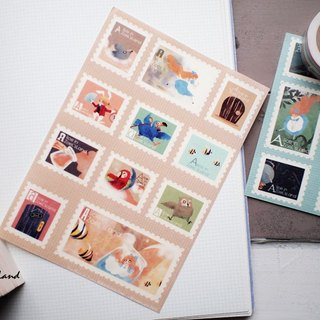 Fake stamps and paper sticker*tears pool*Alice in Wonderland Chapter II