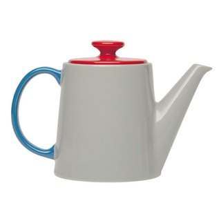Jansen + co color teapot - gray + red + blue