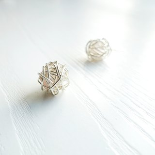 NO WORRIES- Twisted Sterling Silver Crystal Earrings