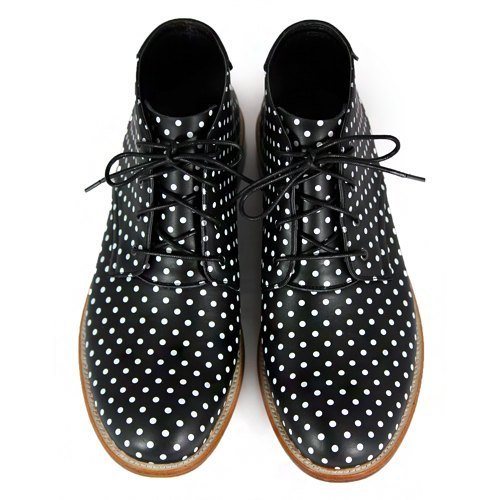 Sweet Violet M1123 Polka Dots leather Derby boots