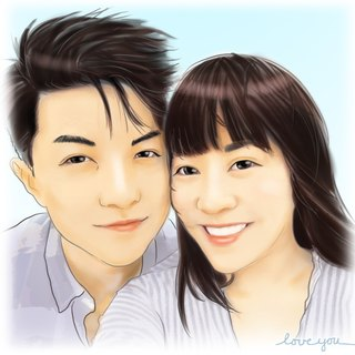 GiftPaint- Valentine's Custom Portrait Pillow [similarity high single portrait price]