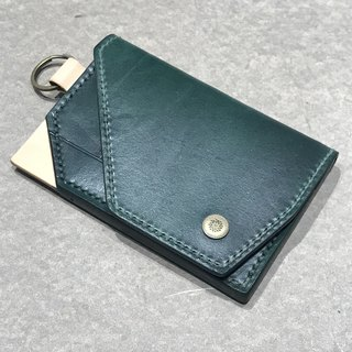 Pure hand-made hand-stained leather purse