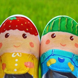 Childlike childish series: strawberry watermelon brother and sister + cute pouch