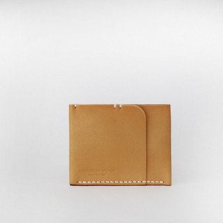 One card bit purse brown bag small change wallet leather wallet short paragraph design creative brown