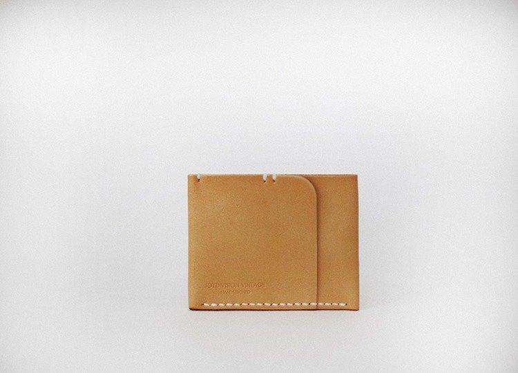 壹卡位零錢包 棕色包零錢小包真皮錢包短款 設計創意棕色