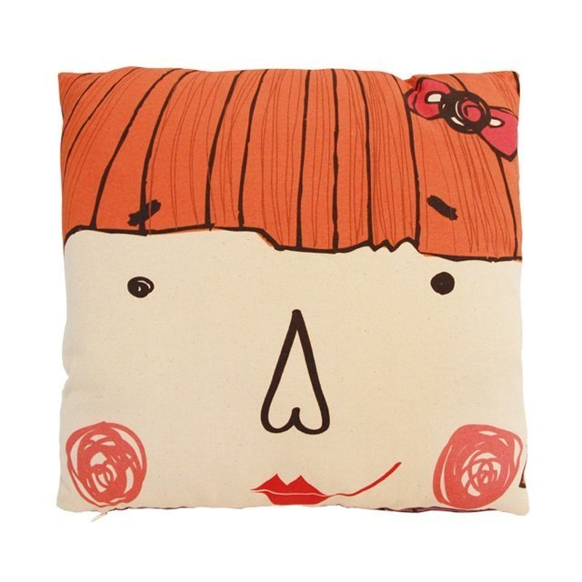 Red Hair Girl Throw Pillow Cushions Cover(inculding pillow)