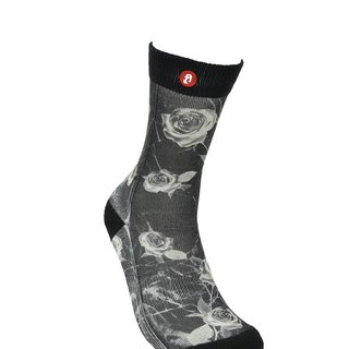 Hong Kong Design | Fool's Day stamp socks - Inverted Rose 00202