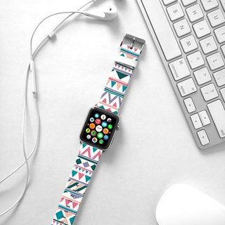 Apple Watch Series 1  , Series 2, Series 3 - Magenta Navajo Tribal Pattern Watch Strap Band for Apple Watch / Apple Watch Sport - 38 mm / 42 mm avilable