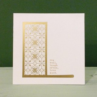 Bronzing letter card envelope sticker group -L