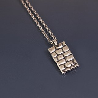 Brick design 925 silver necklace