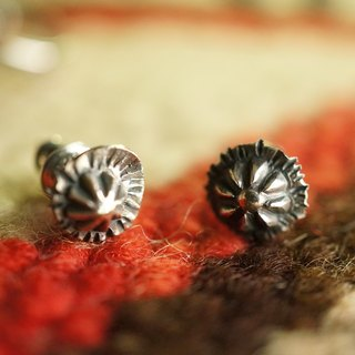 【janvierMade】Sterling Silver Blossom Earrings / Blossom Stud Earrings / 925 Sterling Silver Studs