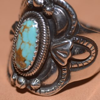 NAVAJO sterling silver ring turquoise ring, hippie, Harley, heavy machinery, American, Indian