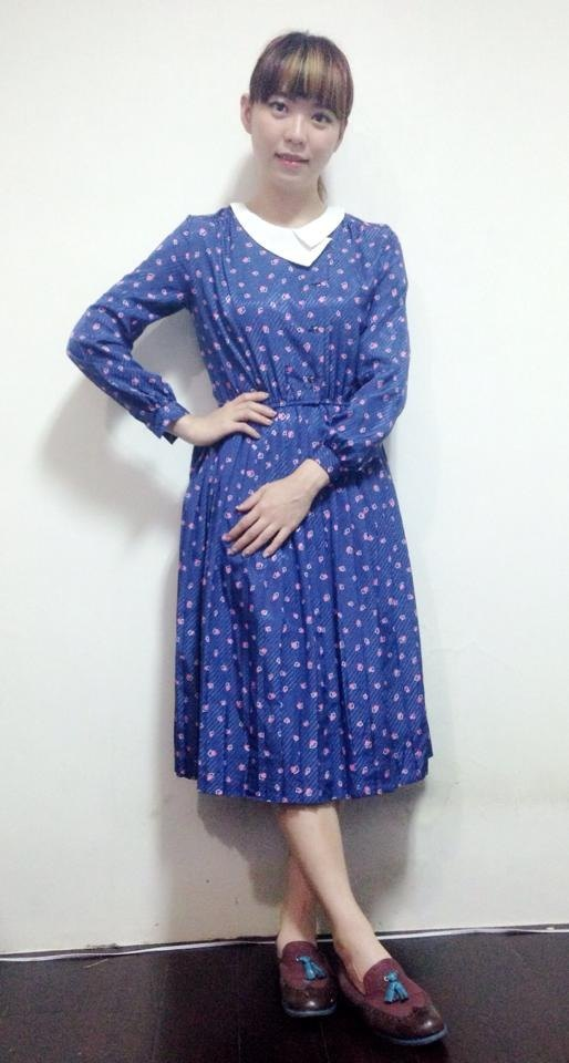 ~ Re: i fashion studio ~ twill full version printing retro dress with pleated