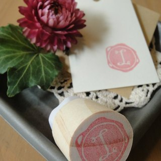 Hand-made rubber stamp - wax seal section (NO 2 I)