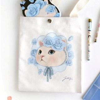 JETOY, Choo Choo sweet cat relaxed shoulder bags _Blue rose (J1408704)