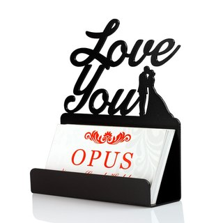 [OPUS East Qi metalworking] Continental Iron Card Holder small wedding thank deck was Valentine's Day gift wedding gift (love)