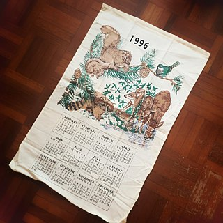 1996 American Early Cloth Calendar Butterfly