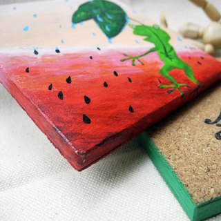 PuChi / painted / wood coaster / Customized Services