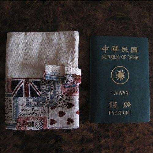 British style - Passport / card jacket (can be customized)