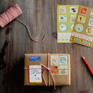[Sweet old time] Stamps & amp; paper tape shape stickers