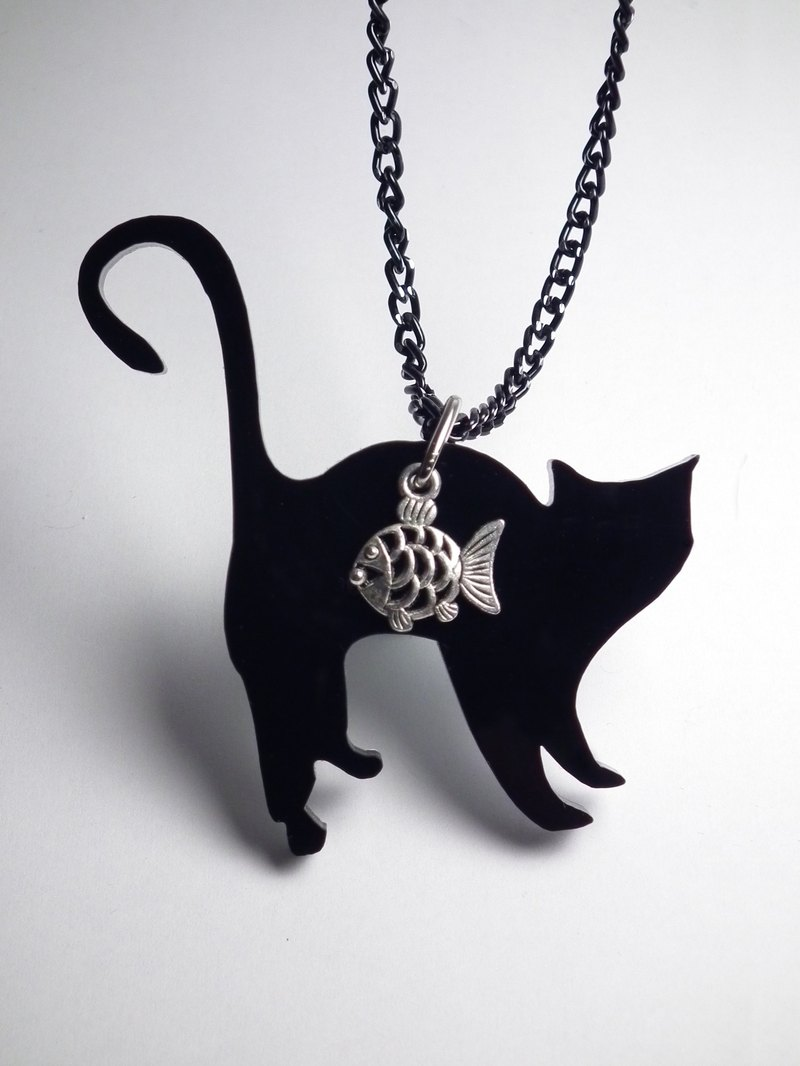 Lectra duck ▲ cats love fish (angry cat) ▲ necklace / keychain