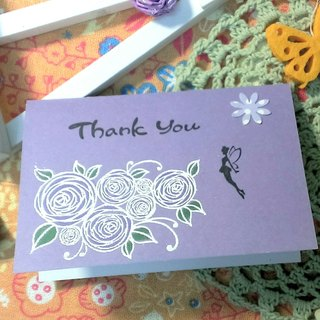 Handmade cards - rose fairy thank small card (Thank You Card / universal card / greeting card)