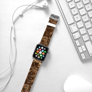 Apple Watch Series 1 , Series 2, Series 3 - Brown Marble Pattern Watch Strap Band for Apple Watch / Apple Watch Sport - 38 mm / 42 mm avilable
