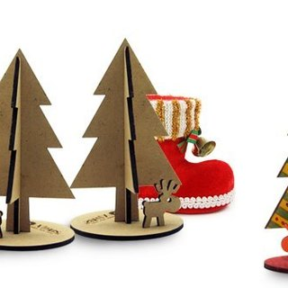 [EyeDesign see design] WOODFROG wooden Christmas gift deer family - Dan Paul Christmas