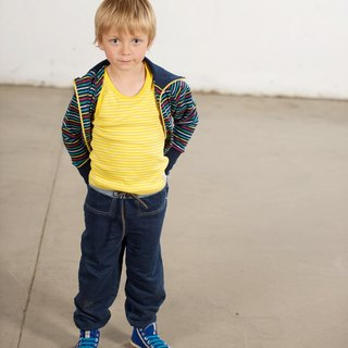 [Sweden] made of organic cotton elastic imitation jeans (for 1.5Y-8Y) limited edition children's clothing