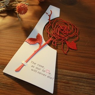 Desk + 1 │ rose bookmark (red)