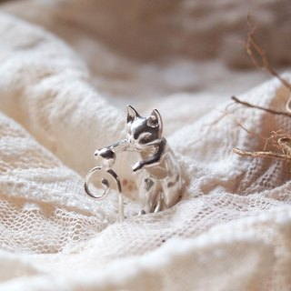 Unique Dancing Silver Dancing Cat Ring Cat Lover Gift For Lover Friend Valentine