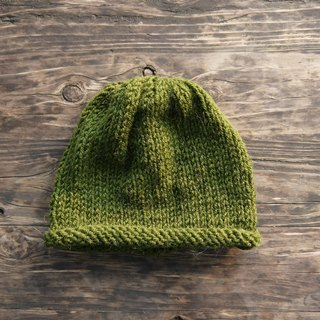 Mama 100% hand-made hat - small volume caps - Retro dark green - Year / gift