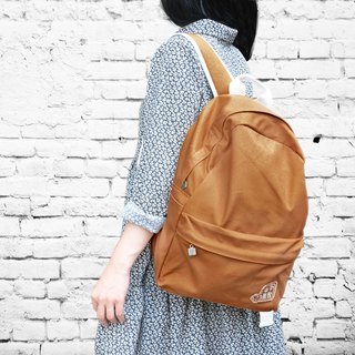 purely. Outing - After rucksack - plain backpack [yellow ocher]