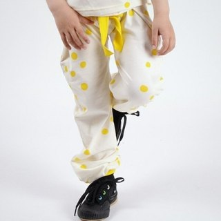 2014 Spring ~~ koolabah little organic fluorescent yellow trousers