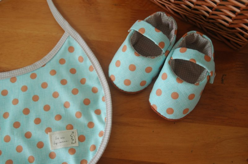 POINT light blue brown baby shoes