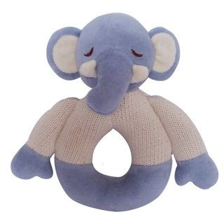 US MyNatural organic cotton Goodnight Series Gu Chi rattle - baby blue elephant