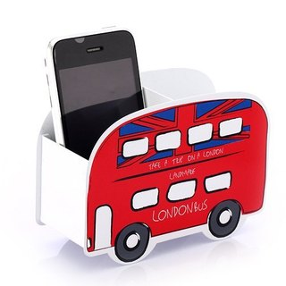 Cool Pencil Holder - Car Modeling Series I Red London Bus Stationery Storage