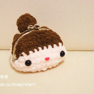 [Leaf cat son. Hand-made crochet doll finished] - packet header girl mouth gold package