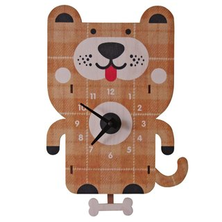 modern moose-3D clock-dog pendulum clock