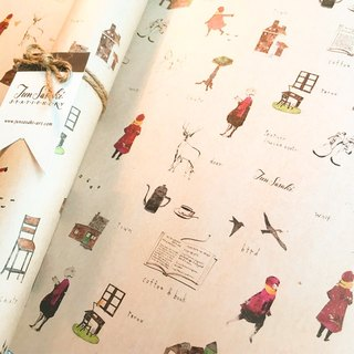 Red girl's wrapping paper