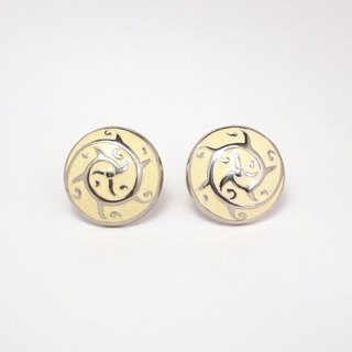 Circle Dot Dolphin Jump Stainless Steel Ear Pin Earrings Earrings Earrings 134