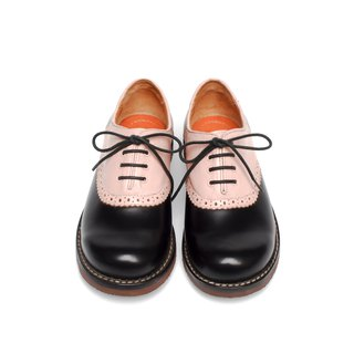 【Gentlewoman】ASHLEY Vintage two-tone Saddle Oxford PINKxWHITE