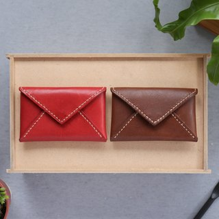 Shekinah Handmade Leather - Envelope Card Holder / Clip