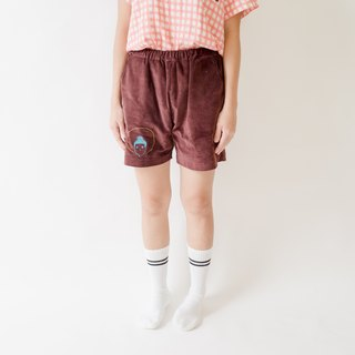 Buddha is always with you  / outdoor shorts / dark brown