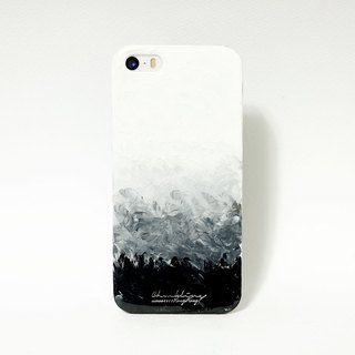 Gradient series ll ultimate black ll hand-painted oil painting phone case