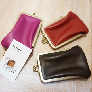 Sienna leather mouthpiece card holder