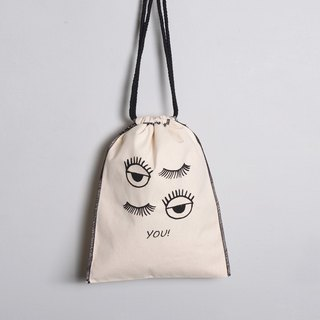 Hand-painted handprints Peibu pouch sided pattern [YOU]