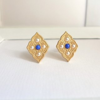 [Studio 5629]Vintage Western antique jewelry exotic clip earrings