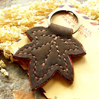 [ANITA] Handmade Workshop Autumn Autumn x Handmade Leather Traveler Memory Maple Keyring - Special offer